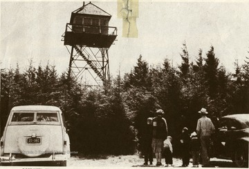 Gaudinier Knob Fire Tower in Monongahela National Forest, W. Va.