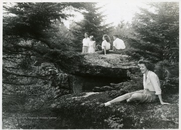Hikers in the Monongahela National Forest, Elkins, W. Va.