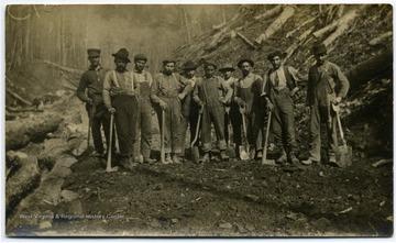 James Cherrilo with Railroad Building Crew at Montes, W. Va.