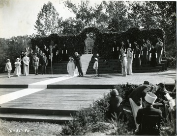 Governor H. G. Kump Crowns Queen Siliva VI during the Forest Festival in Elkins, W. Va.
